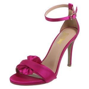 Shoes - Fuchsia satin heels NEW